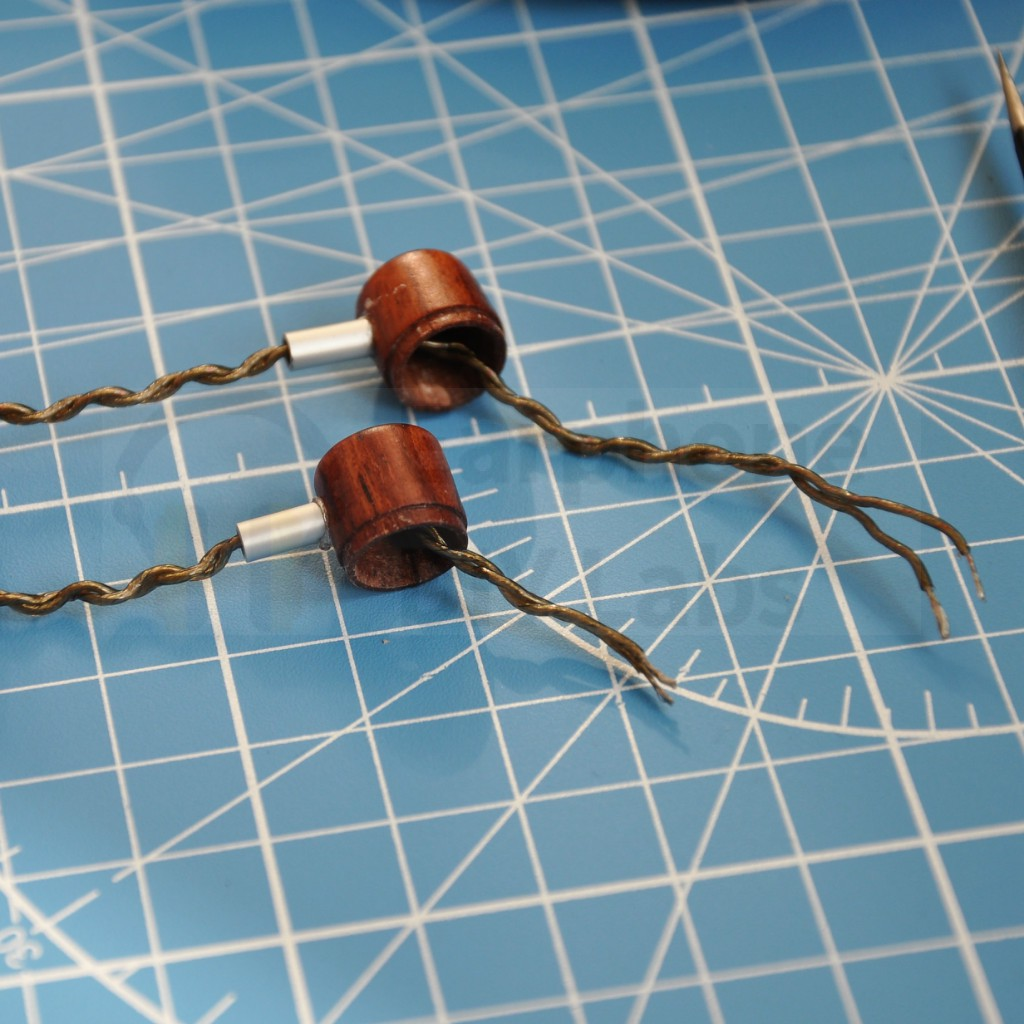Brazil Rosewood Silver In-Ear Open End Earphone Shell for 10mm