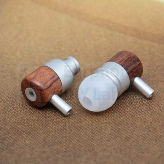 Brazil Rosewood Silver In-Ear Open End Earphone Shell for 10mm driver unit