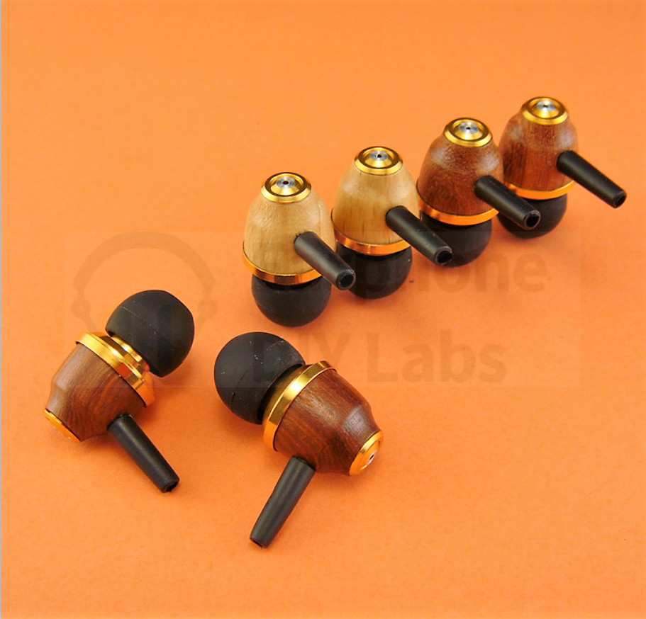 Red Sandalwood In-Ear Open End Earphone Shell for 10mm driver unit